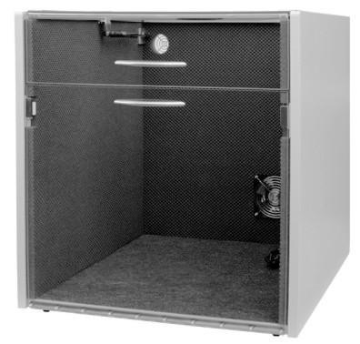 """Lärmschutzgehäuse für Drucker """"Laser-Cabinet-GD"""" mit geteiltem Deckel LC259-GD330"""