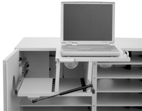 """Notebookwagen / Laptopwagen / Medienwagen """"Liftmaster"""" (ohne Schiebegriffe)"""