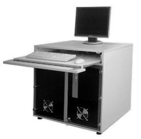"PC-Lärmschutzschrank mit Tastaturauszug ""Gigant"" Steharbeitsplatz"